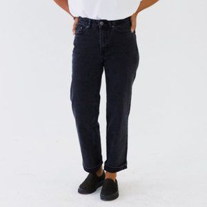 Frank and Oak The Patti Straight Jeans Black 25